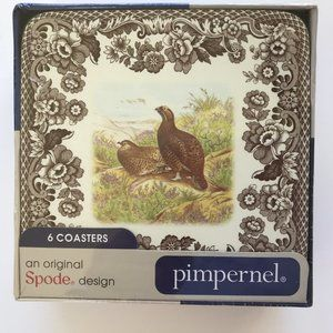 Spode WOODLAND PIMPERNEL Coasters